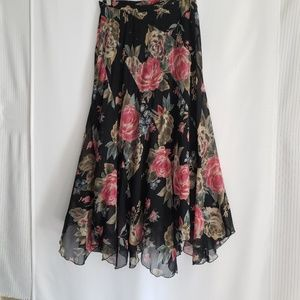 Soft Surrondings floral skirt